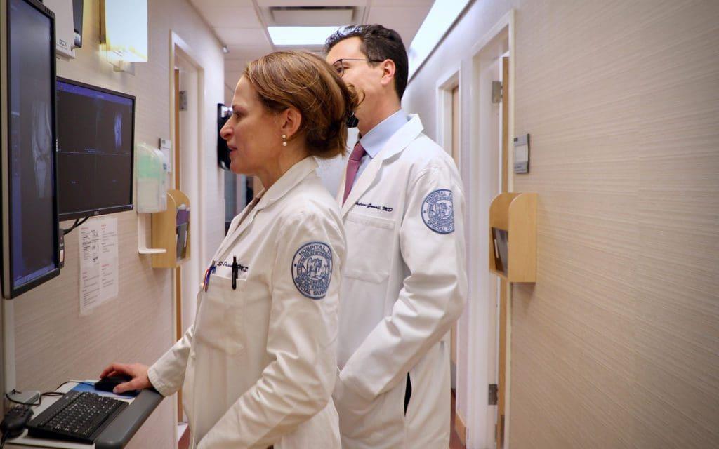 Dr. Strickland & Dr. Gomoll at HSS